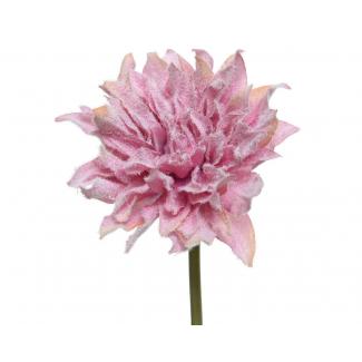 Fiore in tessuto ècru con pizzo, cm 5 x 12, confezione da 12 pezzi