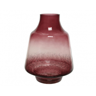 Vaso lucido borgogna diametro cm 19 x h 25.5