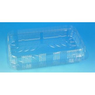 Vaschette base quadrata con coperchio in PET trasparente con vendita a cartone completo