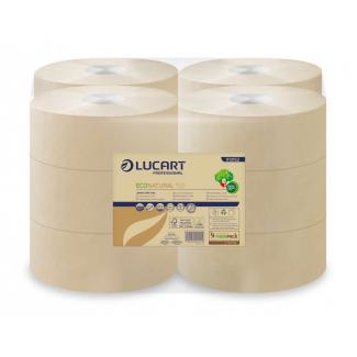 Carta igienica mini jumbo in carta ecologica Econatural per dispenser, confezione da 12 rotoli