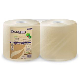 Rotolo asciugatutto 2 veli 800 strappi in carta ecologica Econatural, confezione da 2 pezzi