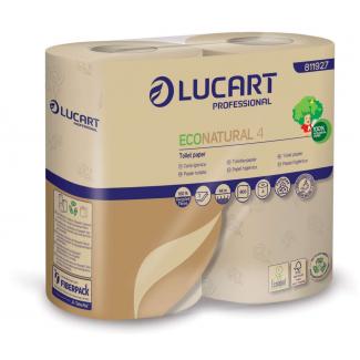Carta igienica 2 veli 400 strappi in carta ecologica Econatural, confezione da 4 pezzi