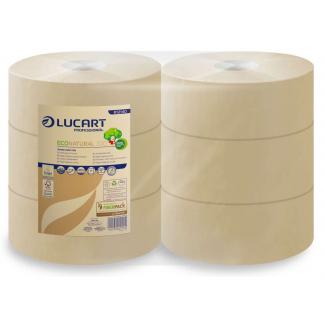 Carta igienica maxi jumbo in carta ecologica Econatural per dispenser, confezione da 6 rotoli
