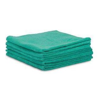 Panno verde in microfibra al poliuretano, 37x38 cm, confezione da 5 pezzi