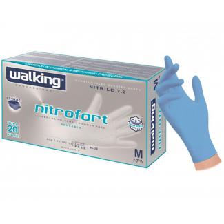 Guanto nitrile azzurro alta resistenza spessore 7.2gr confezione da 100 pezzi