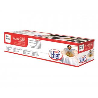 Panno filtrazione professionale TNT bianco in rotolo con 50 strappi 38x50cm