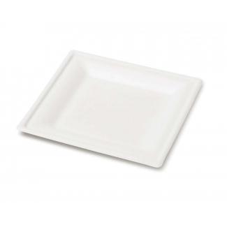 Piatto quadrato in polpa di cellulosa biodegradabile 50pz.