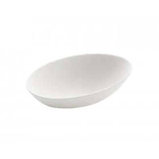 Finger food ovale polpa di cellulosa biodegradabile 8x5.4cm confezione da 20 pezzi