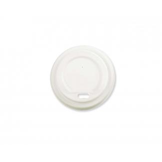 Coperchio CPLA biodegradabile per bicchiere in cartoncino bianco 240 e 350cc confezione da 50 pezzi