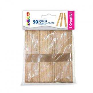 Stecca il legno naturale, confezione da 50 pezzi