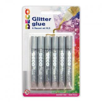 Colla glitter da 10.5 ml, confezione da 6 pezzi