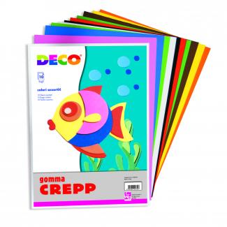 Fogli gomma Creep, colori assortiti, confezione da 10 pezzi