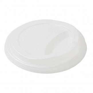 Coperchio PLA biodegradabile per bicchiere cartoncino tripla parete avana da 35-47cl confezione da  75 pezzi