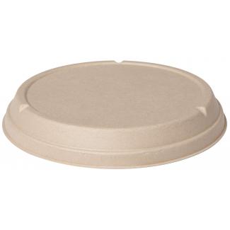 Coperchio biodegradabile in polpa di cellulosa avana per piatto fondo da 800 o 1000 ml confezione da 40 pezzi