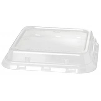 Coperchio 100% RPET per piatto fondo quadrato da 900 ml confezione da 40 pezzi