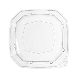 Coperchio 100% RPET  per piatto quadrato ottagonale in polpa di cellulosa da 1000ml confezione da 50 pezzi