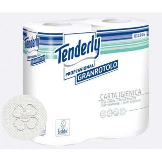 Carta igienica cellulosa bianca 2 veli 440 strappi, confezione da 4 rotoli
