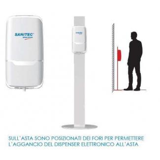 Dispesenser con fotocellula automatico bianco per gel mani