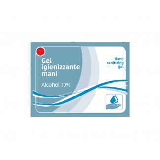 Gel mani igienizzante alcool 70% in bustina 3ml monodose cartone da 500 pezzi