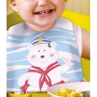 Bavaglino baby mix in tessuto non tessuto stampato con fantasie e soggetti assortiti 28x28cm, confezioni da 100 pezzi