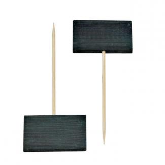 Mini lavagna con stecchino 9cm confezione da 20 pezzi