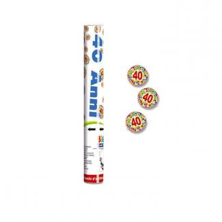 Cannone sparacoriandoli n.40 polvere di stelle alto 30cm