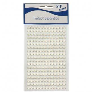 Perle autoadesive di forma semisferica, in strisce da 8.5 cm, utilizzabili anche singolarmente.