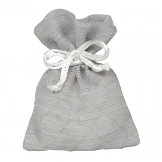 sacchetto con decoro rombi e laccio
