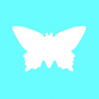 Fustella decorativa per carta, forma  farfalla