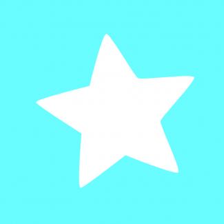 Fustella decorativa per carta, forma  stella