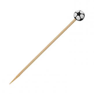 Stecchino in bamboo decorazione pallone da calcio 12cm confezione da 100 pezzi