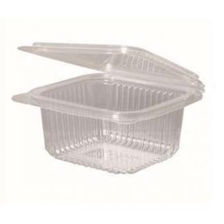 Vaschetta con coperchio rettangolare in PLA trasparente
