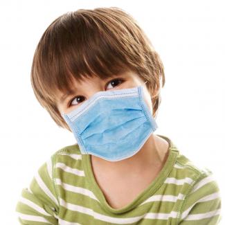 Mascherina chirurgica monouso a 3 strati per bambino/a in confezione da 30 pezzi