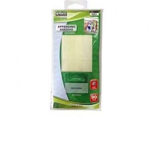 Appendi cartello adesivi trasparenti in confezione da 80 pezzi con tenuta massima 350 grammi, formato 44 x 38 mm