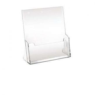Porta depliant da banco A4 ad una tasca in acrilico trasparente