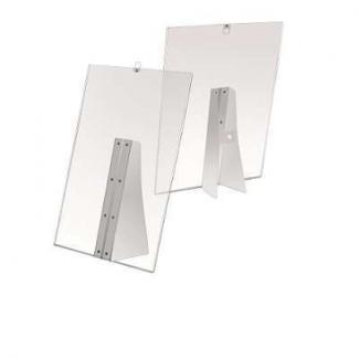 Porta depliant in PVC trasparente