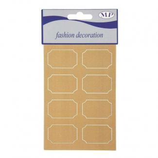 Etichette adesive con decoro