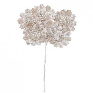 Fiore rosa con stelo e finitura ghiaccio cm 92