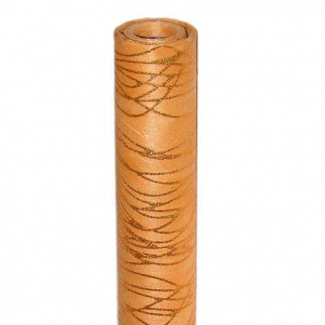 bobina in tessuto non tessuto con decoro e glitter rame cm 75 x 9 mt