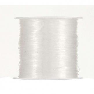 Rotolo filo nylon bianco mm 0.6 x 35 mt