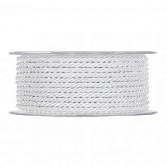 Rotolo cordoncino torchon bianco, modello marina, diametro 5 mm x 15 mt
