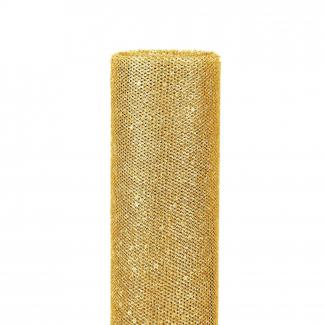 rotolo nastro con glitter modello mesh oro cm 75 x 9 mt