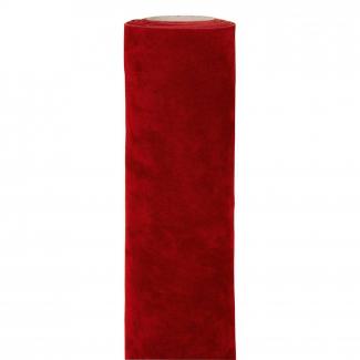 bobina doppio velluto rosso cm 30 x 3 mt