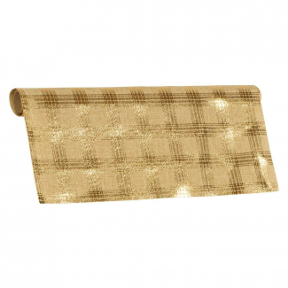 bobina con decoro scacchi brillanti oro cm 47 x 5 mt