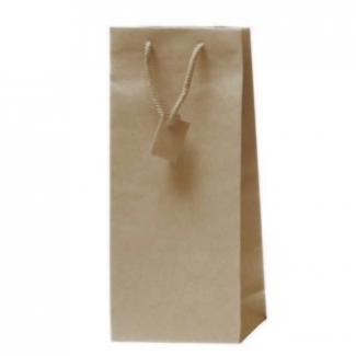 shopper kraft avana con maniglia in corda per due bottiglie confezione da 10 pezzi