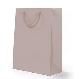 Mini shopper carta lusso opaco con maniglia in cotone