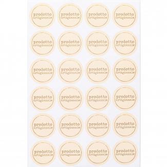 """Etichetta adesiva rotonda crema con scritta """"prodotto artigianale"""", diametro cm 3, confezione da 240 pezzi"""