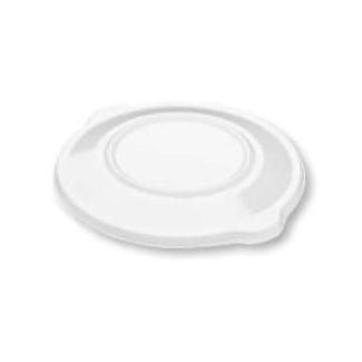 Coperchio trasparente tondo PP per piatto nero CPET con scomparti confezione da 20 pezzi
