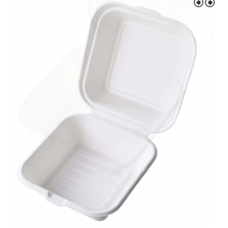 Contenitore con coperchio in polpa di cellulosa biodegradabile