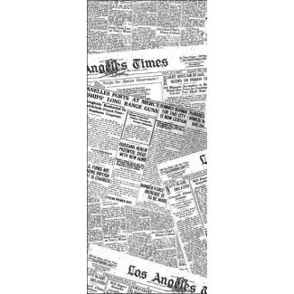 Carta antigrasso bianca con stampa generica giornale